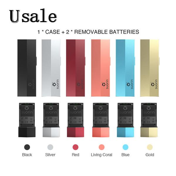 Kit de estuche Suorin Edge con 2 baterías 230mAh Dibujar Activado Diseño de cocción Kit de diseño extraíble Dattery 100% original