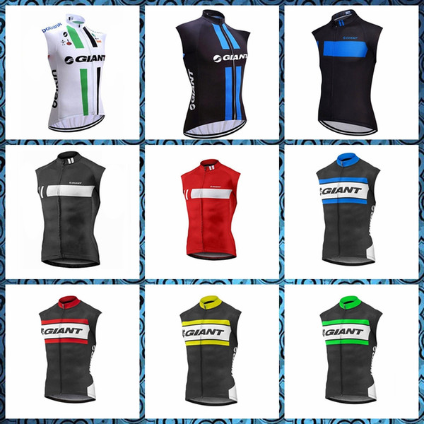 GIANT team Cycling Sleeveless jersey Vest Bike Vests Sportswear men mountain bike shirts bicycle Top 51736
