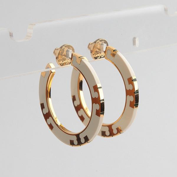 Top qualité blanc et rouge couleur douce mandarine T-bande cerceau boucle d'oreille dans 4.2 * 0.7 cm de mariage bijoux cadeau PS6714A