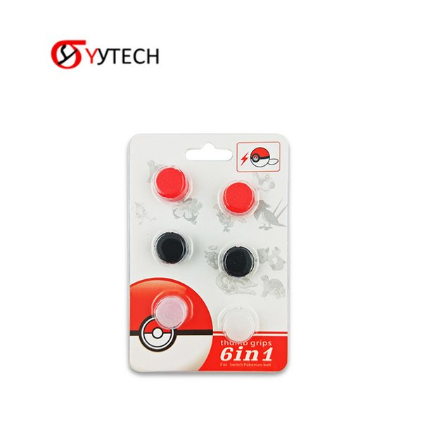 SYYTECH 6 in 1 Thumb Grip Thumb stick Grip Caps Thumb stick Grips Cover For Nintendo Switch Ball