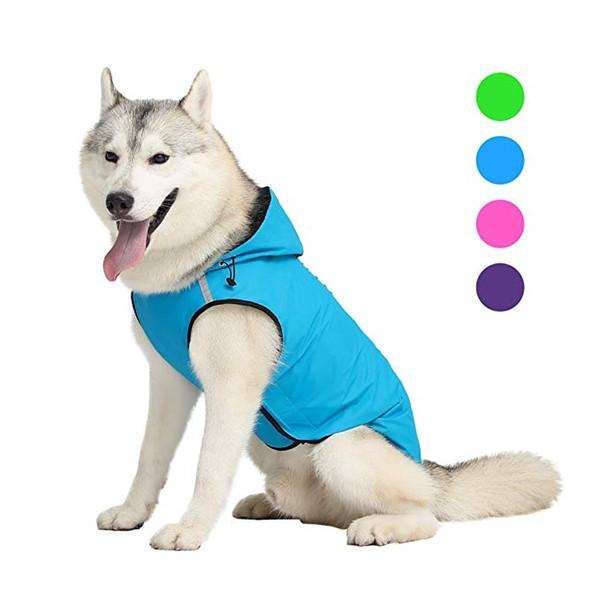 Pet Dog Raincoat Reflective Dog Vest Jacket For Small Medium Large Dogs Waterproof Clothes Outdoor Pet Jacket