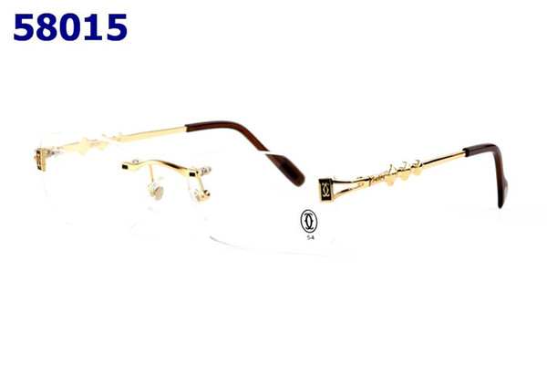 Mode Männer Big Buffalo Horn brille Frauen Rahmen Randlose Sonnenbrille Gold Metall Beine Brillen Blau Klar Braun Rot Brille
