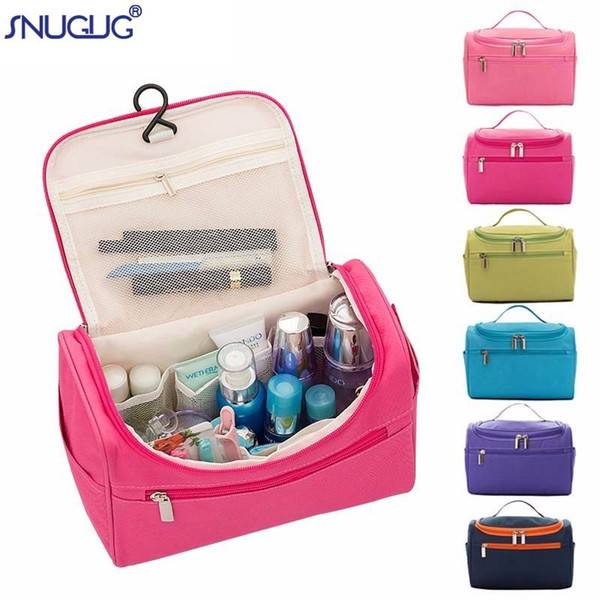 Nuevo Oxford Travel Organizer Cosmetic Bag for Women Necessaries Make Up Case Wash Toiletry Bag Waterproof Men Hanging Makeup