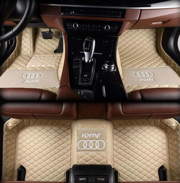 Suitable for Audi A4 / 2017-2019 stitching car mat anti-slip PU interior waterproof leather floor mat environmentally friendly non-toxic mat