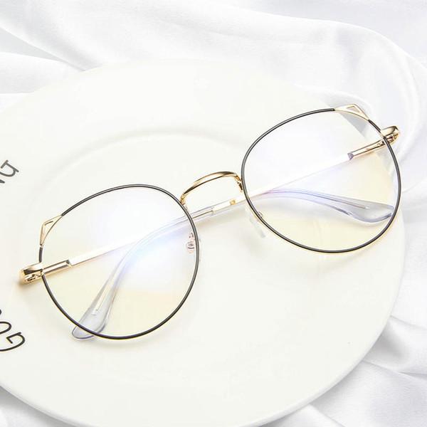 2019 NEW Кошачий стиль Женские оправы для очков Прозрачные поддельные / компьютерные / очки для чтения анти-излучения / Blue Ray очки