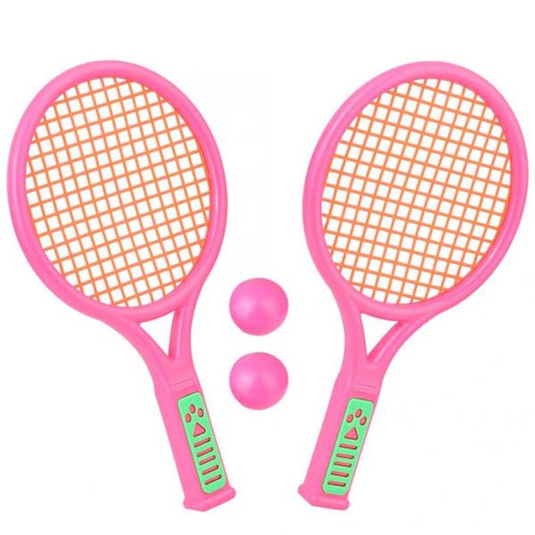 26.5см 1 пара детей теннисные ракетки спорт на открытом воздухе портативные ракетки для бадминтона детские игрушки детские ракетки спортивные