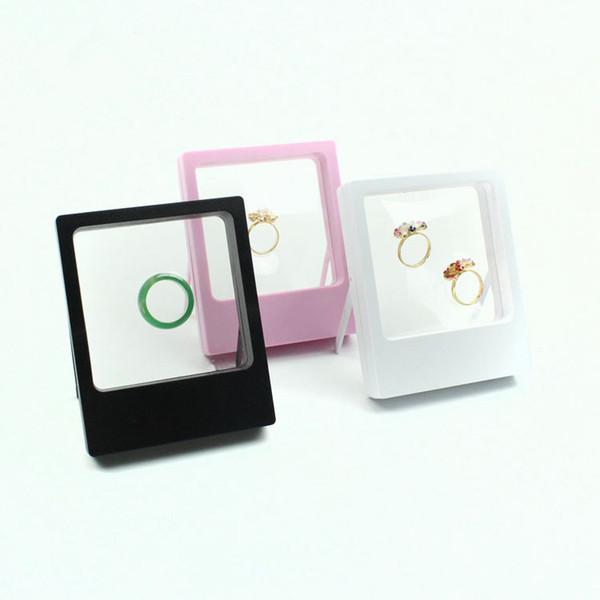 Transparente Schmuck Display Box Ring ausgesetzt schwimmende Halter Fall Schmuck Münzen Edelsteine Schmuck Stand Cases CCA11863 60pcs