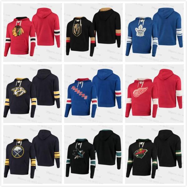 2020 Parenté Pull Hommes Femmes Enfants Sabres Sharks ailes Blackhawks Devils Kings Predators Blue Jackets Rangers Capitals LNH Chandail