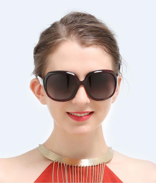 Nova marca de alta qualidade das mulheres óculos de sol designer de moda óculos de sol com moldura grande para mulheres adumbral elegantes óculos com caixa