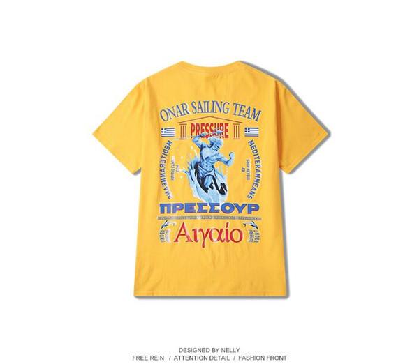 Ins super hot jacket men's summer harbor breeze short sleeve men's hip hop printed T-shirt loose half sleeve Korean fashion men's wear