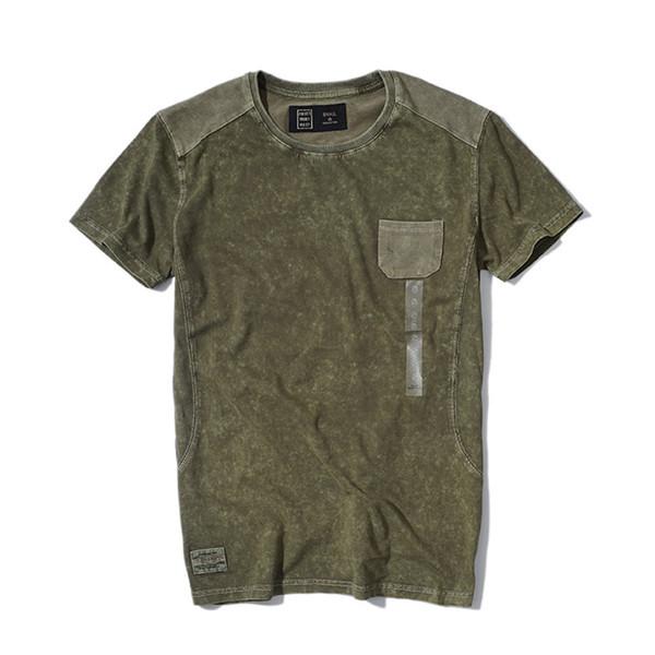 Erkek Yaz Tasarımcı Katı Renk tişörtleri Mürettebat Yaka Kısa Kollu Moda Stil Homme Giyim Gündelik Giyim