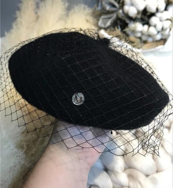 Yün Şapka Yeni Bere Saç İngiliz Restorasyon Edebiyat ve Sanat Dantel En Cap ücretsiz kargo