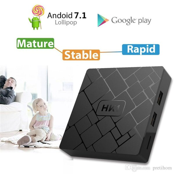 Wholesale HK1 mini SMART TV BOX Android 8.1 2GB 16GB RK3229 Quad Core Set Top Box H.265 4K HD MI Media Player andriod tv box