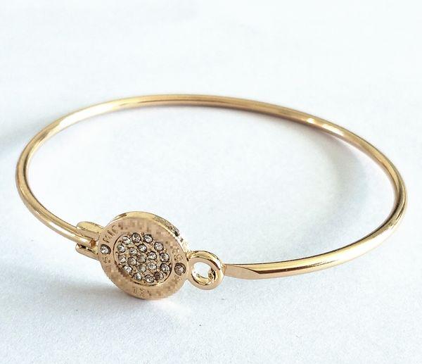 Престижная известная большой бренд MK браслет цепь м серия бриллиантового браслет открытие ссылка мода для мужчин и женщин