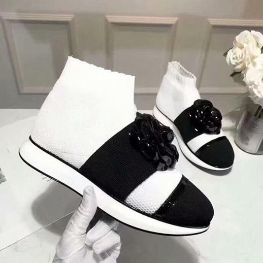Brand Name Womens Camellia Ankle Autumn Winter Sock-like Booties Sports Walk Shoes Original Box Size 35-40
