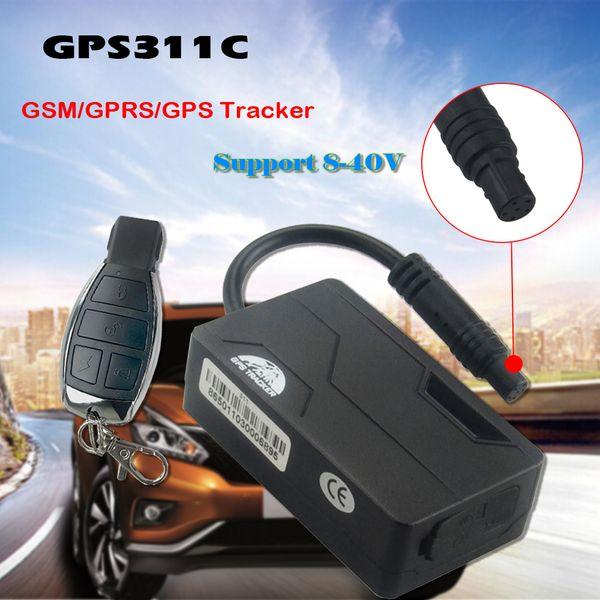 جهاز التحكم عن بعد الفعلي تتبع نظام تحديد المواقع جي إس إم المقتفي 8-40V البسيطة GPS311C-L E- الدراجة GPS المقتفي مع تتبع ACC الكشف