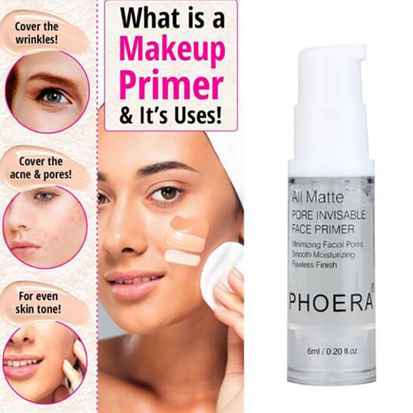 Phoera face Primer Base de maquillaje 6ML Control de aceite Matte profesional Maquillaje poros Marca Base Primer herramienta básica para hacerte más bella
