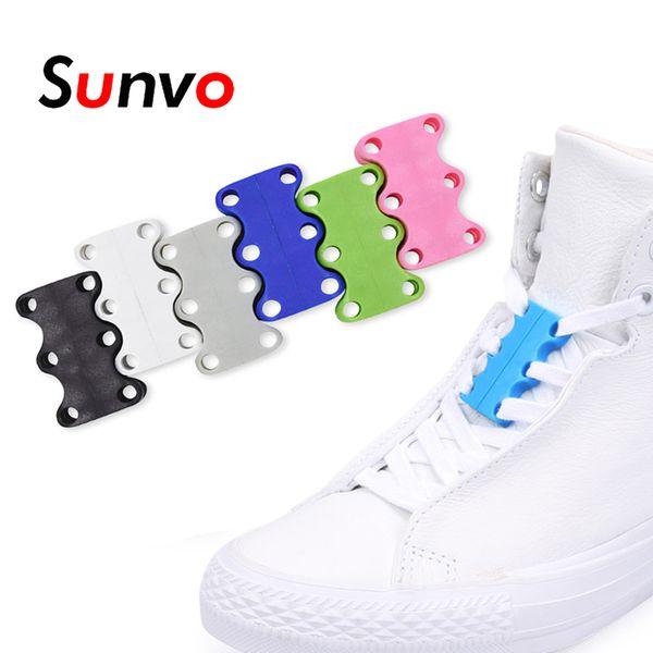 Sunvo Magnetic Shoelaces Buckle No Tie Shoe Laces for Lazy Child Older Lace Strong Quick Lacet Closure Shoelace Shoestring