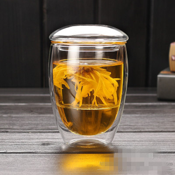 350ml/450mlTransparent Clear Glass Milk Mug Coffee Tea Cup Teapot Kettle With Tea Infuser Filter&Lid Home Office Drinkware