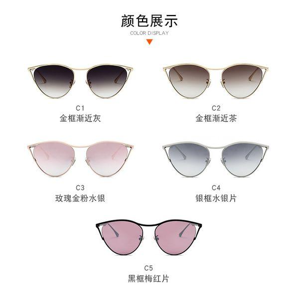 18355DITA 2019 new cat eye sunglasses ladies sunglasses metal sunglasses