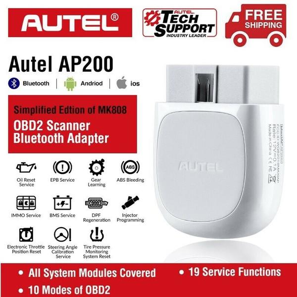 AP200 Bluetooth OBD2 Autel de code automatique Lecteur Scanner de diagnostic Android AutoVIN EPB BMS SAS TPMS DPF IMMO PK 808 maxicom