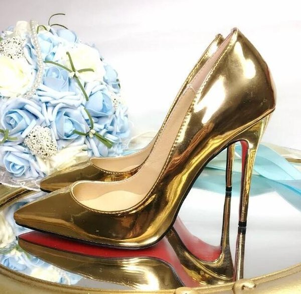 Free shipping fashion women pumps rainbow patent leather point toe high heels thin heel shoes genuine leather real photo