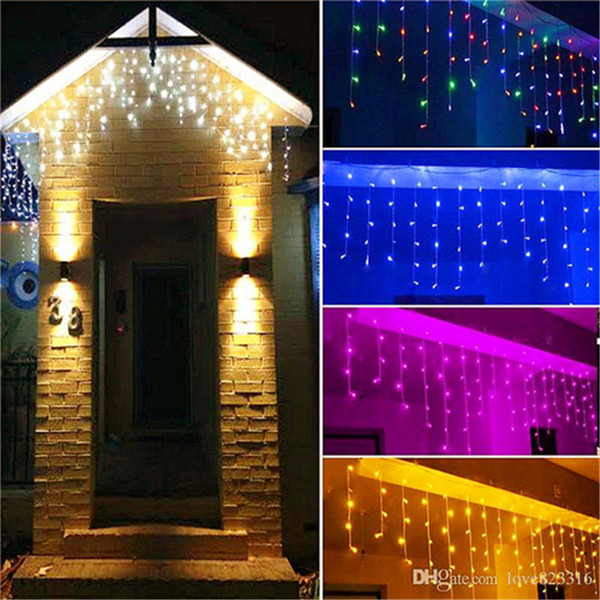 10m X 0 5m 320 Lamps Led Icicle Lights Outdoor Home Christmas Decorative Xmas String Fairy Curtain Garlands Party Lights For Wedding String Lights