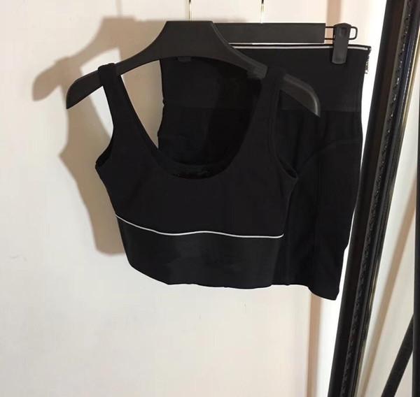 2019 Pista Donne Tuta Solid Set Yoga Patchwork corsa fitness jogging canotta gonna del vestito di ginnastica di sport sportivo