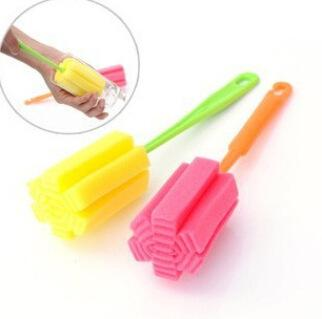 Nothing Packing Nude Durable Sponge Long Bottle Cup Kitchen Clean Brush