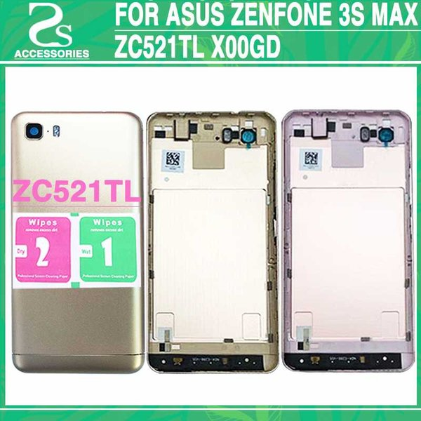 wholesale dealer b5547 c57d3 Rear ZC521TL Battery Back Housing Cover For Asus Zenfone 3s Max ZC521TL  X00GD Back Door Battery Case With Power Cell Phone Cases Covers Cell Phone  ...