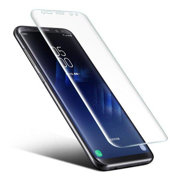 Premium Ultra Slim Volle Abdeckung Gebogenes Weiches TPU PET Hohe Displayschutzfolie Für Samsung Galaxy S6 S7 Rand S8 S9 S10 Plus S10E Hinweis 8