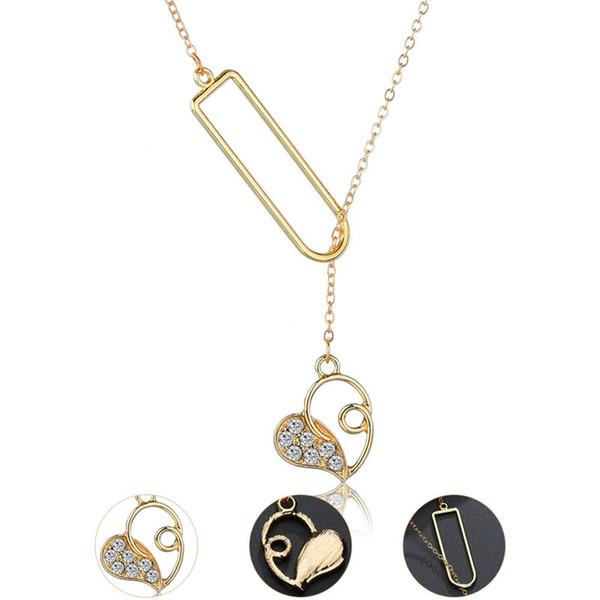 Gold Silber Überzogene Liebe Anhänger Halskette für Frauen Kleine Kristall Herz Chokerkragen Böhmischen Chocker Halskette schmuck