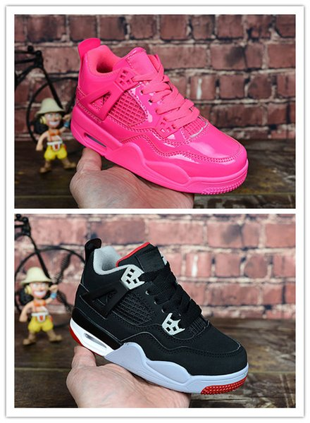 Chaussures enfants Basketball Chaussures Vente en gros Nouveau 4 espace jam 72-10 CNY 4S Sneakers enfants Sport Running fille formateur garçon taille 28-35 avec la boîte