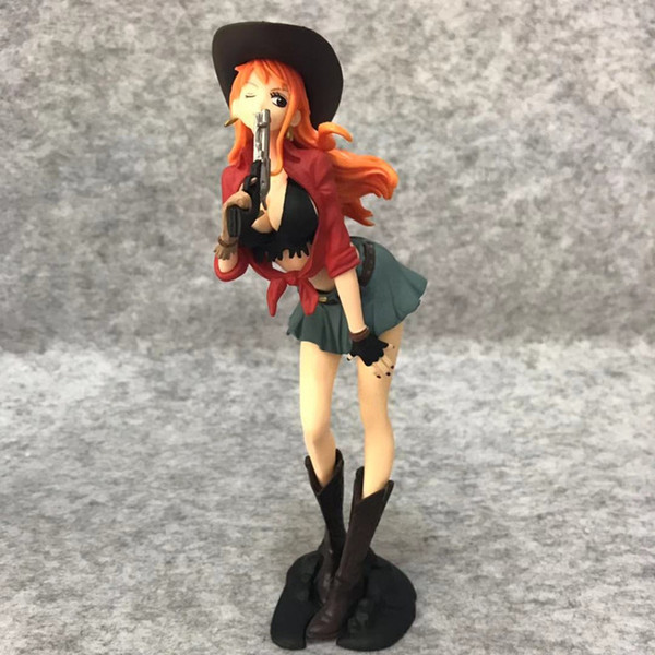 Anime One Piece Nami Cowboy Ver PVC Action Figure Collectible Model doll toy 18cm