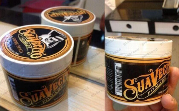 best selling Suavecito Pomade Hair Gel Style firme hold Pomades Waxes Strong hold restoring ancient ways big skeleton hair slicked back hair oil wax mud