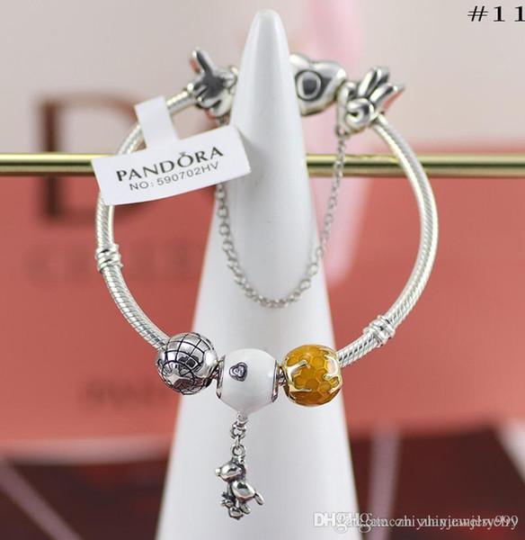 Black Friday 2018 Pandora printemps pendentif éléphant briller bracelets de charme abeille miel 100% 925 bijoux en argent sterling paquet complet d'origine