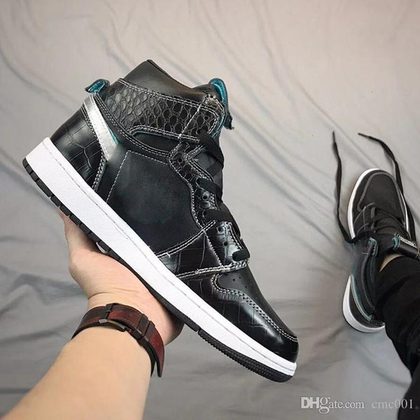Designer Chicago Crystal 1 Basketball Shoes Mens 1S OG MID Sport Shoes outdoor Mandarin duck Trainers Rookie of the Year Patent Sneakers