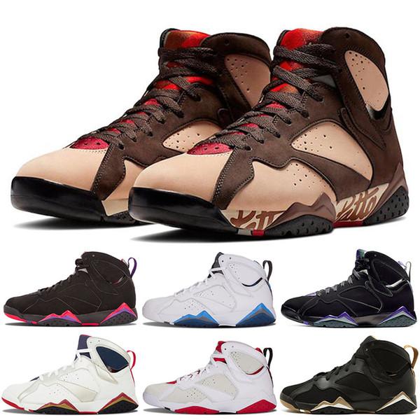 2019 Nike Air Jordan 7 Retro 7 7s Nueva Llegada Patta X 7 Ray Allen Olympic 7s Athletic Hombre Zapatillas De Baloncesto Historia Del Vuelo Hare Raptor