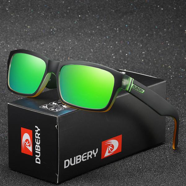 DUBERY Vintage Güneş Polarize erkek Güneş Gözlükleri Erkekler Için Kare Tonları Sürüş Siyah Yaz ulculos Erkek 8 Renkler Model 189