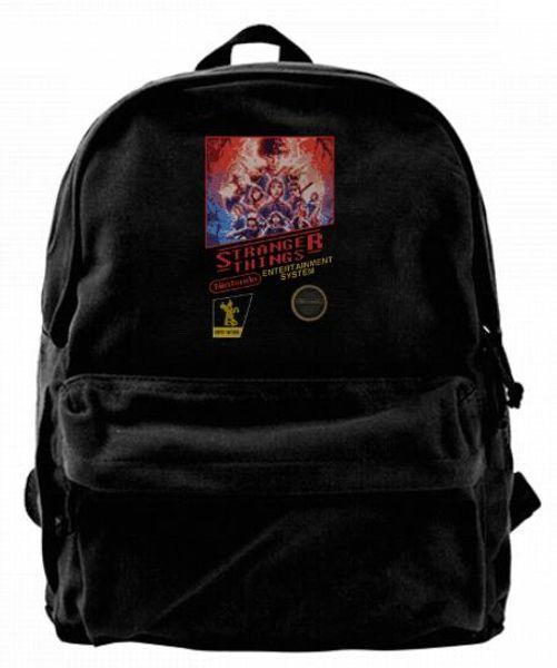 Stranger Things NES Cartridge Canvas Shoulder Backpack Funniest School Backpack For Men & Women Teens College Travel Daypack