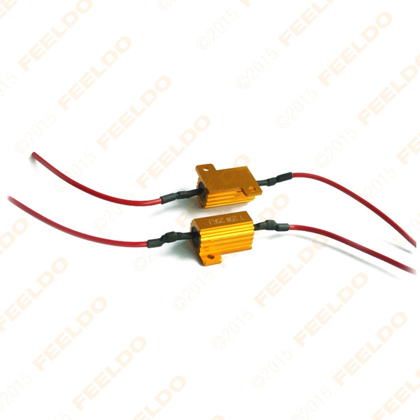 best selling wholesale Car 25W 6ohm LED Load Resistors For Turn Signal Light Fix Bulb Out Error Blink Adapter SKU#:1881