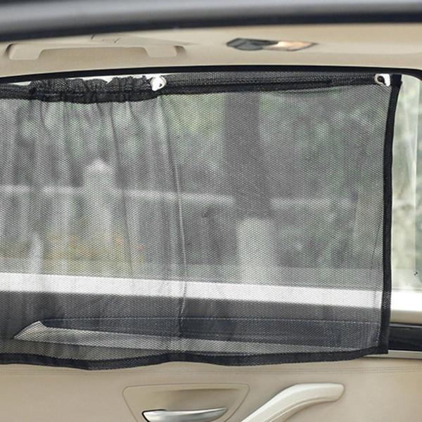 Оригинальный 2pcs черного автомобиля козырек от солнца Боковой нейлоновой сетки Гардина Складной Зонт UV защита автомобиль Занавес Автоаксессуары