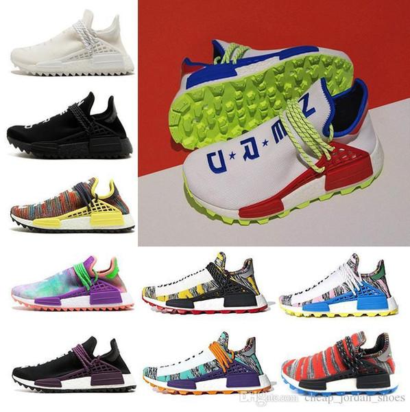 Hu Human Race Afro Cheap Solar Pack sneaker NERD Homecoming Running shoes Hu trail holi Men Women trainer Sports Athletic shoes size 36-45