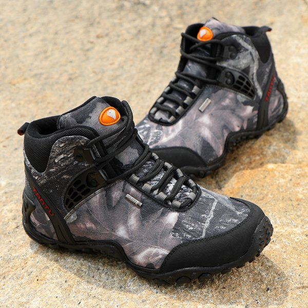 Army Camouflage Climbing Boots Waterproof Mountaineering Shoes Men's Sneakers Travel Rock Climbing Outdoor Sports Hiking Shoes 40-46