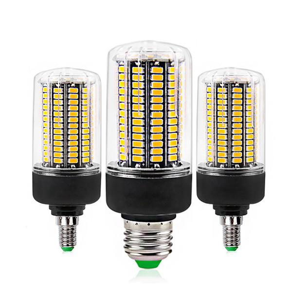 E27 E14 SMD5736 Lampadine a LED AC 110 V 220 V LED Corn Light 7 W 9 W 12 W 15 W 20 W Nessuna luce intermittente per ampolla da soggiorno
