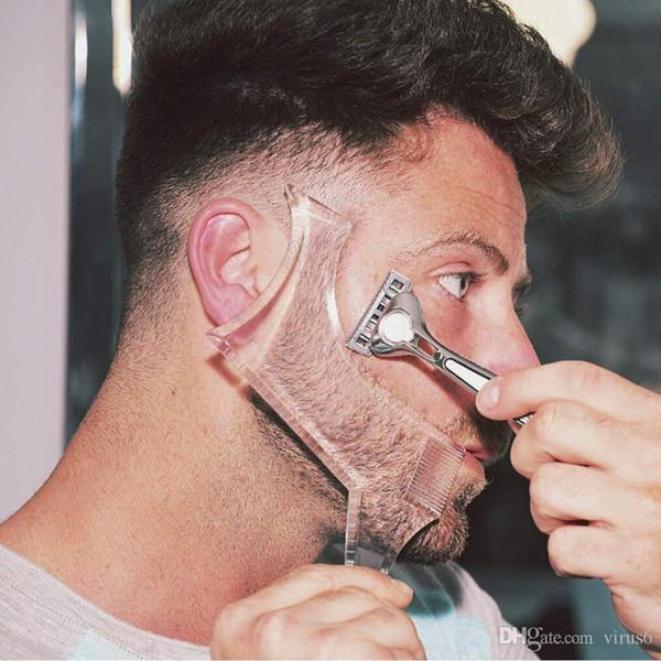 Nouveaux arrivants hommes barbe façonnant style modèle peigne transparent hommes barbes peignes beauté outil pour les modèles de barbe de cheveux