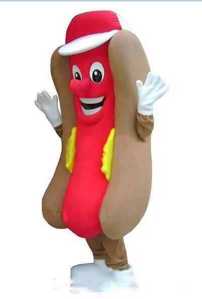 2019 Factory direct sale Adult Professional Deluxe Hot Dog No Mustard Mascot Costume Mask Fastfood with free shipping