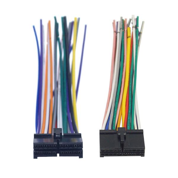Universal Car CD/DVD Navigator 20-pin large/small current universal tail line power horn plug #6122/2326