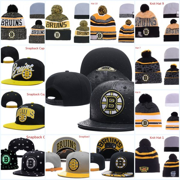 Boston Bruins Snapback Caps Adjustable Hat Black white red grey Boston Bruins Knit Hat Hockey beanies Caps