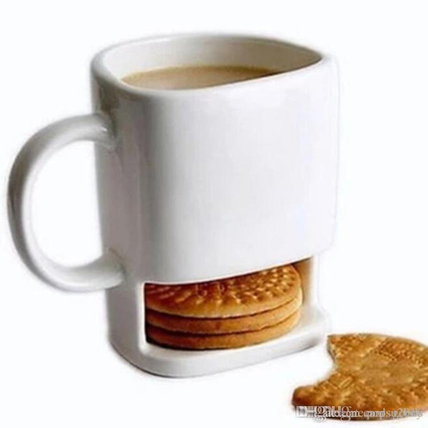 top popular 24 pcs Ceramic Milk Cups with Biscuit Holder Dunk Cookies Coffee Mugs Storage for Dessert Christmas Gifts Ceramic Cookie Mug 2021